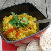 Local Vegetable Curry with Mung Dahl and Buckwheat